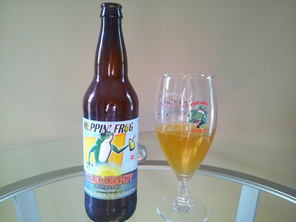 Hoppin' Frog's Turbo Shandy Citrus Ale